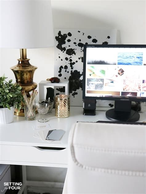 5 easy organization ideas to create the chicest desk setting for four