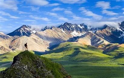 Hiking Alaska Mountain Nature Park Wallpapers National