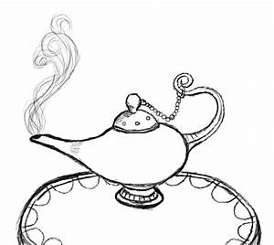 How to draw genie lamp