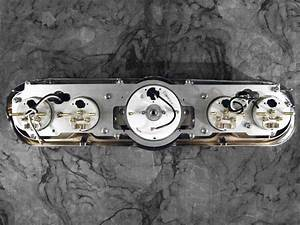 1965-1966 Ford Mustang billet aluminum adapter panels w/ Auto Meter Old Tyme White gauges