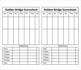 Informatica B2b Resume by Bridge Score Card Template Sle Bridge Score Sheet 9 Free Documents In Pdf