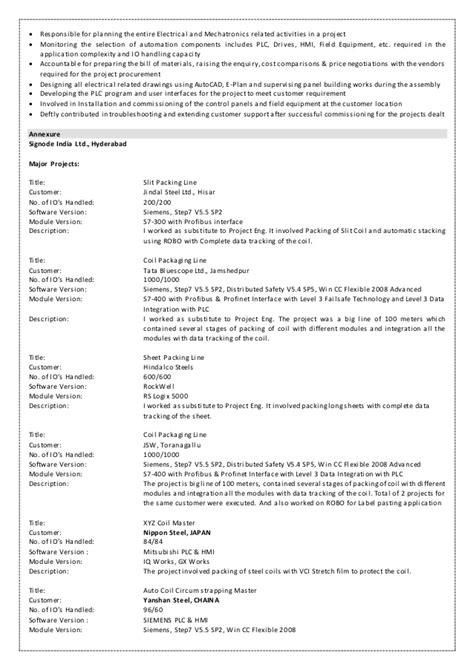 bulk material handling resume saichander resume