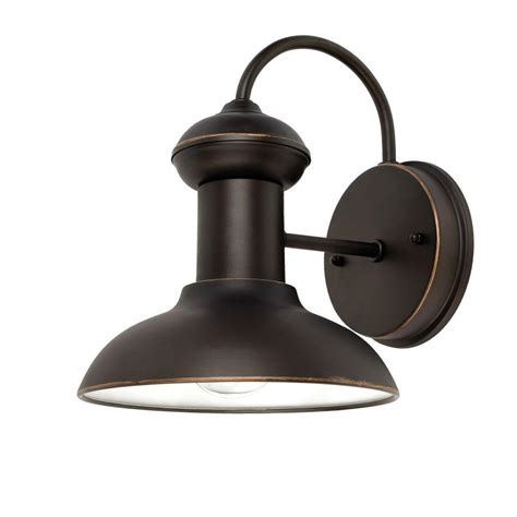 home depot wall sconces globe electric martes 10 in rubbed bronze downward
