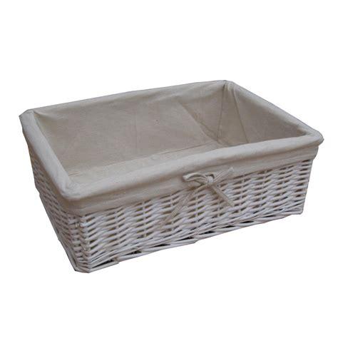Basket Storage by Buy White Wicker Storage Basket From The Basket Company
