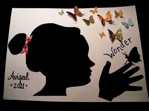 child keepsake silhouette portrait  dimensional