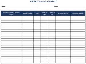Log Sheet Template Excel Pics Photos Phone Call Log Template
