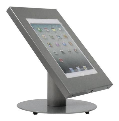 tablet stand for desk tablet desk stand securo 9 11 inch grey exhibishop