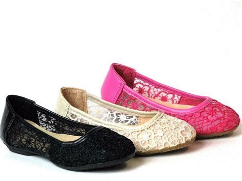 Ballet Flats Shoes : Baby Toddler Girls Lace Crochet Slip On Shoes Ballet Flats