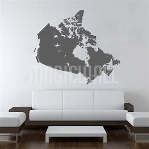 Wall Decals - Canada Map - Wall Stickers