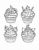 Coloring Muffins Sweet Treats раскраски Kinds Different из все категории Sweets Books Template источник sketch template