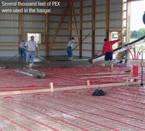 hangar heating passive solar up to 55 degrees