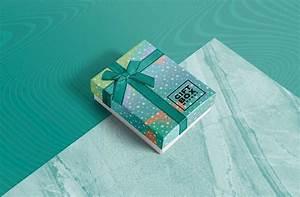 free photorealistic gift box mockup mockuptree