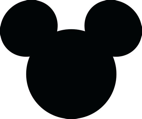 Mickey Mouse Silhouette Template by Mickey Mouse Silhouette Images At Getdrawings Free