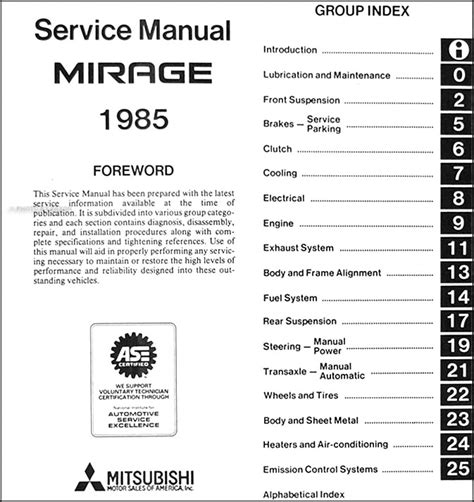 free service manuals online 1990 mitsubishi mirage head up display 1985 mitsubishi mirage repair shop manual original