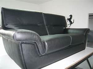 refection canape cuir noir avant apres minutie sellerie With refection canape cuir