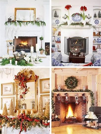 Christmas Mantel Decorations Fireplace Mantle Decor Decoration
