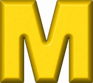 presentation alphabets yellow refrigerator magnet m With big yellow letters