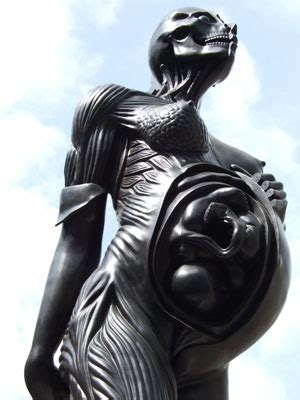 damien hirst virgin mother sculpture