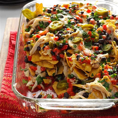 nacho recipe baked chicken nachos recipe taste of home