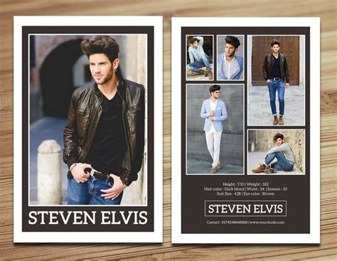 model comp card template modeling comp card fashion card