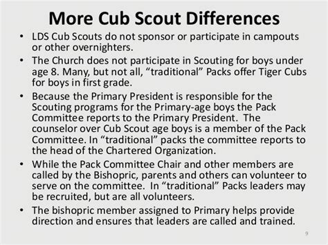 cub scout committee chair responsibilities lds 10 2010 lds scouting for the primary organization ppp