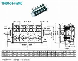 600v 60a din rail mounted terminal blocks 1400mm With model railroad wiring terminal blocks