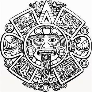 Aztec Calendar Stone Coloring Pages …   Pinteres…