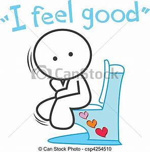Vector Clipart of cartoon I feel good - Be happy and ...