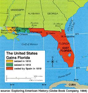 Image result for 1819 - Spain ceded Florida to the United States.
