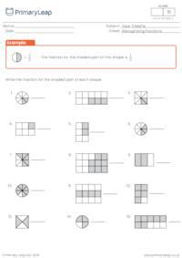 numeracy fraction sequences worksheet primaryleapcouk