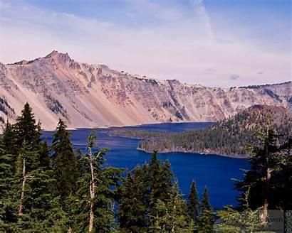 Lake Crater Oregon Landscape Mountains Desktop Wallpapers