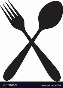 Crossed fork and spoon Royalty Free Vector Image