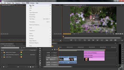 Free Premiere Pro Templates by Adobe Premiere Pro Cs6 Tutorial Templates