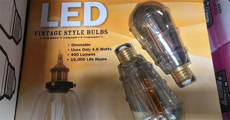 costco light bulbs feit electric 40 watt led vintage style bulbs 2 pack