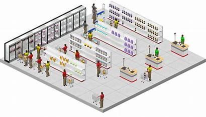Supermarket Layout Retail Plans Arrangement Architecture Concept