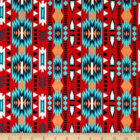 native spirit stripe red discount designer fabric fabric com