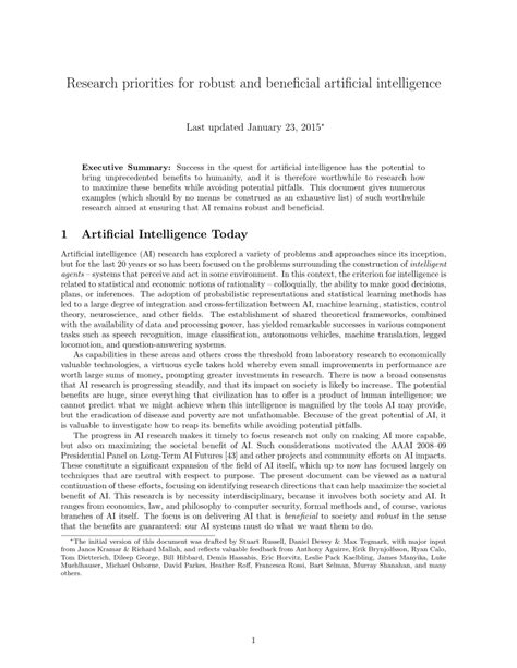 (PDF) Research priorities for robust and beneficial