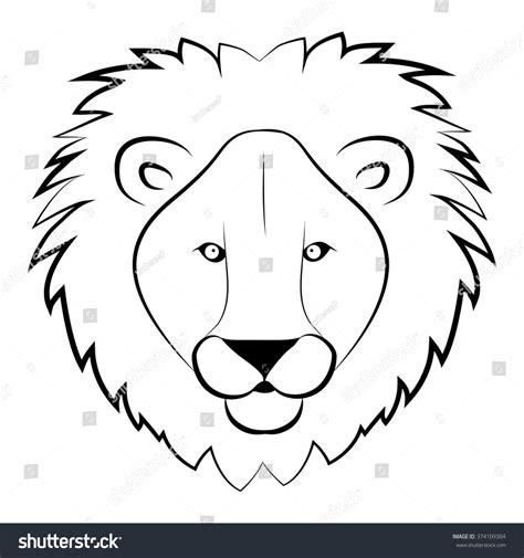 Lion Head Coloring Book Wild Lion Stock Vector 374109304