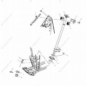 Polaris Atv 2002 Oem Parts Diagram For Steering  Post