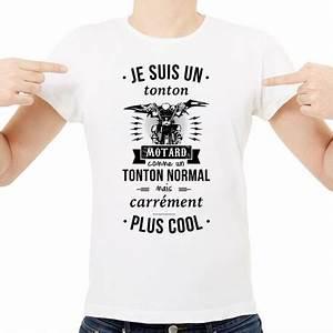 T Shirt Homme Blanc : t shirt homme blanc je suis un tonton motard ketshooop t shirts anniversaires rigolos ~ Melissatoandfro.com Idées de Décoration