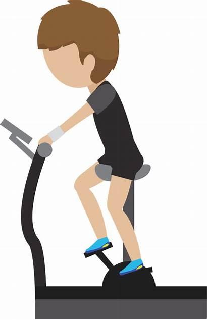 Exercise Clipart Transparent Gym Resistance Cartoon Treadmill
