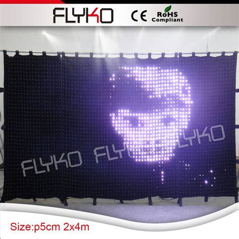 led stage curtain fireproof led curtain led cloth