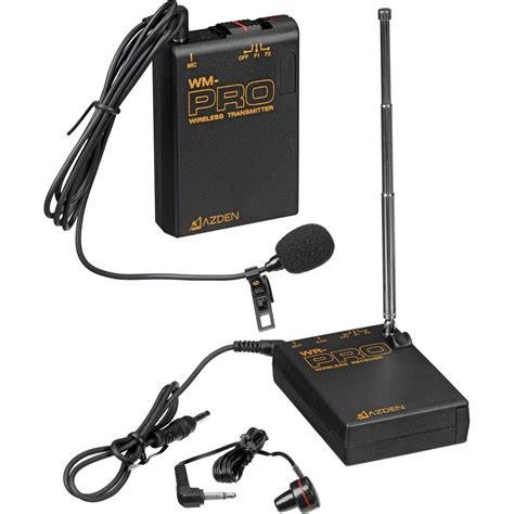 azden wlx pro vhf wireless lavalier microphone system wlx pro