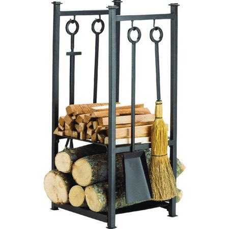 fireplace tools walmart home impressions fireplace tool set with log rack