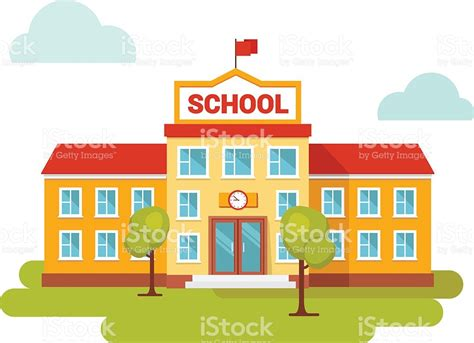 School Clipart Door Clipart School Entrance Pencil And In Color Door