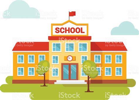 Building Clipart School  Pencil And In Color Building