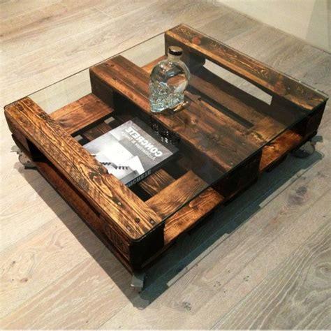 inspiration cuisine ouverte 50 idées pour une table basse avec palette