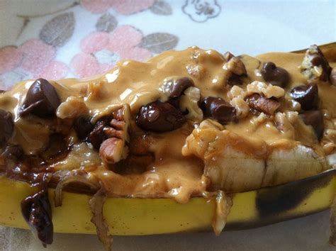 Baked Banana Boat Recipe by Baked Chocolate Peanut Butter Pecan Banana Boats Cooking