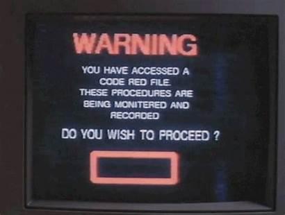Warning Animated Signs Vhs Gifs Retro Tv