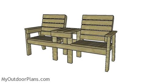 large double chair bench plans myoutdoorplans